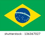Stock vector brazil flag 136367027