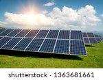 solar panel  photovoltaic ... | Shutterstock . vector #1363681661