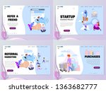 a set of home page templates.... | Shutterstock .eps vector #1363682777