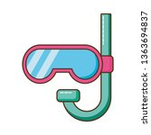 cute snorkel isolated icon | Shutterstock .eps vector #1363694837