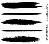 collection of vector brush... | Shutterstock .eps vector #1363696547