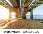bridge under the blue sky   Shutterstock . vector #1363697627