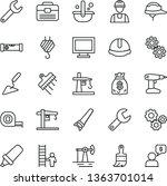 thin line vector icon set  ... | Shutterstock .eps vector #1363701014