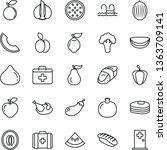 thin line vector icon set  ... | Shutterstock .eps vector #1363709141