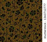 seamless floral damask pattern...   Shutterstock . vector #1363712777