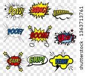 Set Of Superhero Comic Book...