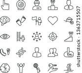 thin line vector icon set  ... | Shutterstock .eps vector #1363715507