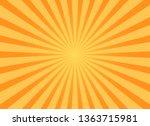 grunge sunburst orange abstract ... | Shutterstock .eps vector #1363715981