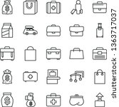 thin line vector icon set  ... | Shutterstock .eps vector #1363717037