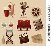 cinema icons | Shutterstock .eps vector #136371884