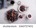 ramadan background with dates... | Shutterstock . vector #1363727651