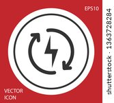 grey recharging icon isolated... | Shutterstock .eps vector #1363728284