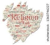 vector conceptual religion  god ...   Shutterstock .eps vector #1363746227