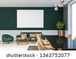 luxury living room interior... | Shutterstock . vector #1363752077