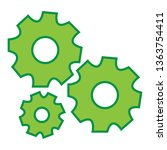 gears settings icon   cogwheel... | Shutterstock .eps vector #1363754411