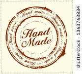 hand made stamp imprint ... | Shutterstock .eps vector #1363763834