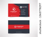 modern black red business card... | Shutterstock .eps vector #1363778297