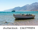 old wooden fishing boat in the... | Shutterstock . vector #1363799894