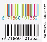 Black And Colored Barcode....