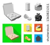 vector illustration of dump ... | Shutterstock .eps vector #1363821311