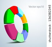 a circular 3d vector logo...