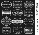 premium quality stamp. frames.... | Shutterstock .eps vector #1363823804
