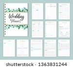 wedding planer organizer with... | Shutterstock .eps vector #1363831244