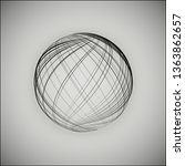 3d sphere consisting of... | Shutterstock .eps vector #1363862657