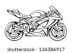 motorcycle | Shutterstock .eps vector #136386917