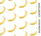 bananas on a white background... | Shutterstock . vector #1363873544