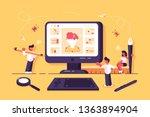 web specialists working in... | Shutterstock .eps vector #1363894904
