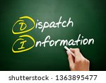 Small photo of DI - Dispatch Information acronym, business concept on blackboard