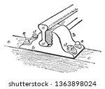double headed rail is a metal... | Shutterstock .eps vector #1363898024