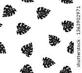 black and white pattern of... | Shutterstock .eps vector #1363902971