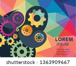 abstract techno gear background ...   Shutterstock .eps vector #1363909667