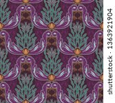beautiful seamless pattern with ... | Shutterstock .eps vector #1363921904