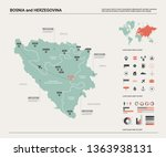 vector map of bosnia and... | Shutterstock .eps vector #1363938131