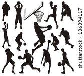 vector set of basketball... | Shutterstock .eps vector #136394117