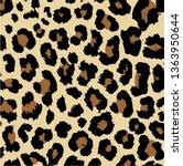 seamless leopard design vector... | Shutterstock .eps vector #1363950644