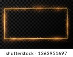 golden frame with lights... | Shutterstock .eps vector #1363951697