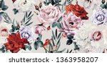 seamless floral pattern with... | Shutterstock . vector #1363958207