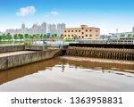 modern urban wastewater...   Shutterstock . vector #1363958831
