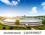 modern urban wastewater...   Shutterstock . vector #1363958837