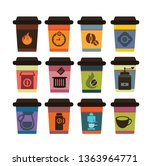coffee to go paper cup coffee... | Shutterstock .eps vector #1363964771