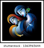illustration of colorful lord...   Shutterstock . vector #1363965644