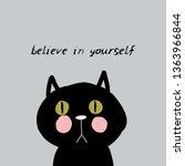 believe in yourself card design ... | Shutterstock .eps vector #1363966844
