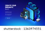 gaming  workstation and mining... | Shutterstock .eps vector #1363974551