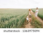 a young family have a fun with... | Shutterstock . vector #1363975094