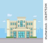 modern company building design...   Shutterstock .eps vector #1363975244