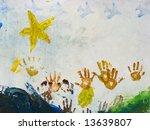 artwork of children finger... | Shutterstock . vector #13639807